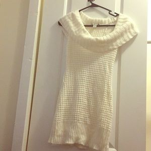 A winter time knitted dress